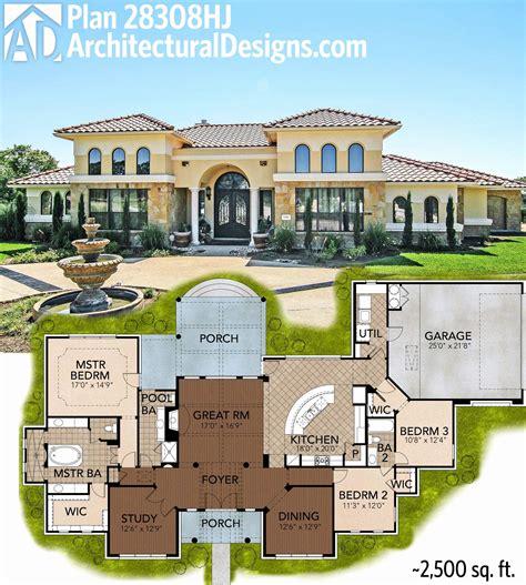Weber Level Single Story Mediterranean House Plans Home