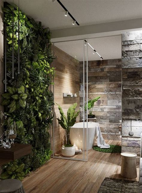 modern master bathrooms connected  nature modern