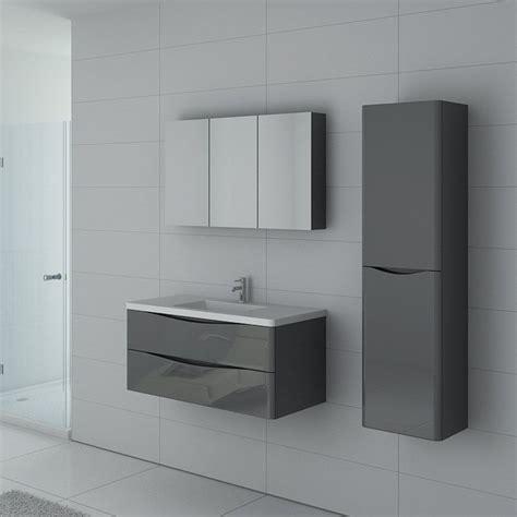 meuble simple vasque gris laqu 233 ensemble de salle de bain couleur gris taupe ref trevise 1000 gt