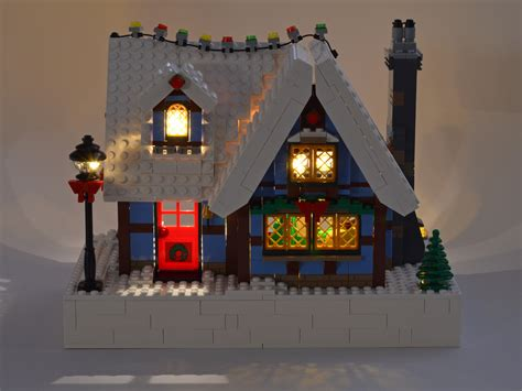 adding lights to the lego 174 winter cottage set