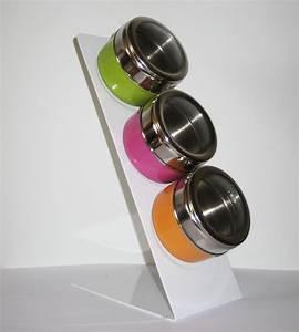 Support à épices : 3 bo tes pices aimant es avec support ~ Teatrodelosmanantiales.com Idées de Décoration