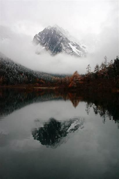 Mist Mountain China Water Reflection Sichuan Unsplash