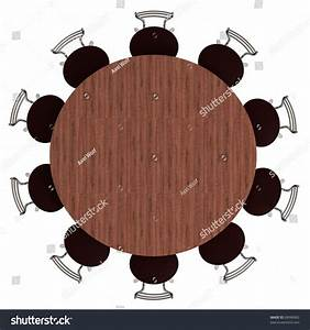 Round Table Chairs Top View Isolated Stock Illustration ...
