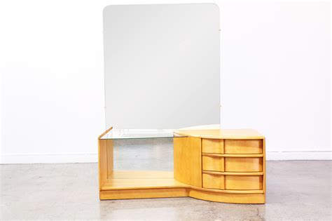 Heywood Wakefield Dresser With Mirror by Heywood Wakefield Vanity With Mirror Vintage Supply Store