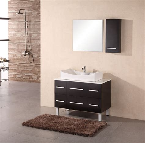 Vanity In - 36 inch modern single sink vanity in espresso uvde012a36