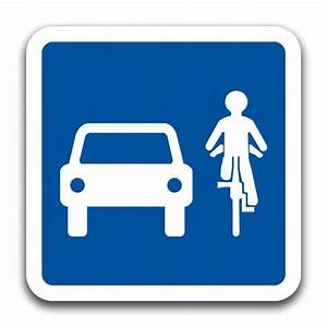 Panneau De Signalisation Personnalisé : partageons la route voitures et cyclistes panneaux ~ Dailycaller-alerts.com Idées de Décoration