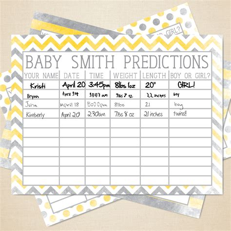 diy custom printable baby poll baby shower game  inspiredk