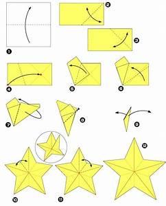 Origami Facile Noel : diagramme d 39 origami d 39 toile cinq branches no l ~ Melissatoandfro.com Idées de Décoration