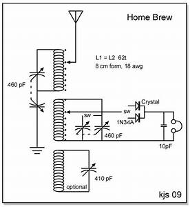 kjs crystal radio homebrew With crystal set circuit