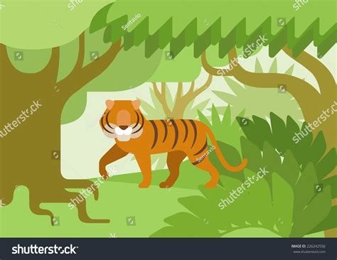 The Tigers At Zoo Clip Art