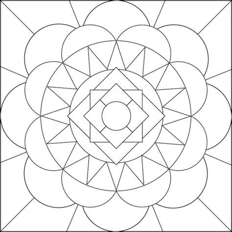 simple geometric designs coloring pages www pixshark