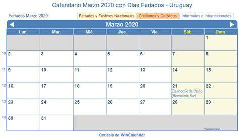calendario marzo   imprimir uruguay