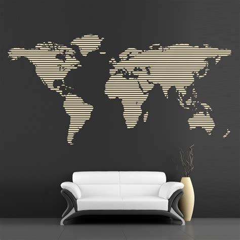 Cool Wall Decals Continents Big Map   By Artollo