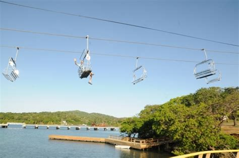 ski style chair lift debuts at mahogany bay cruise center