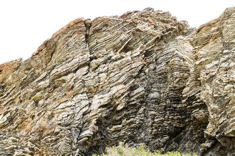 layered rocks   southern coast  crete stock photo