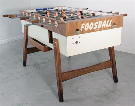vintage foosball table   germany play  room
