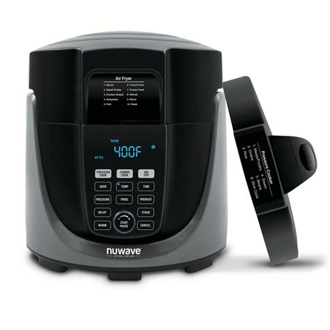 nuwave duet fryer cooker air pressure combo walmart kohl button
