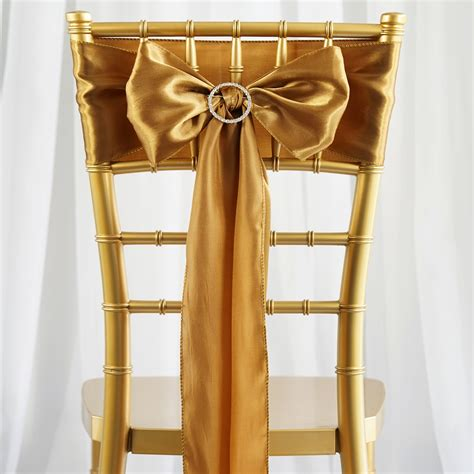 5 pk new satin chair sash bow wedding banquet 20 colors ebay