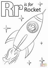 Rocket Coloring Letter Pages Printable Rockets Preschool Alphabet Crafts Houston Activities Space Worksheets Sheets Robot Supercoloring Sheet Letters Words Animals sketch template