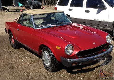 Fiat Spider Parts by 1980 Fiat Spider 2000 Newer Paint Lots Of New Parts