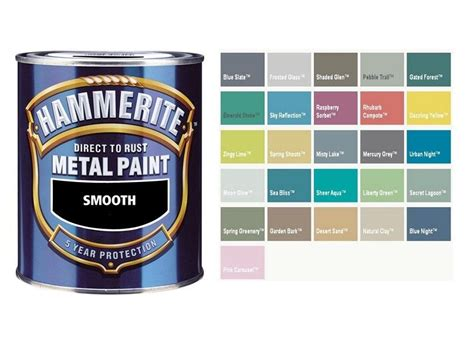 metal spray paint colors hammerite smooth direct to rust metal paint mixed