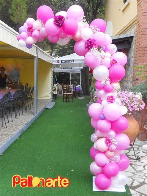 arco fiori arco palloncini irregolari fiori elegante ingresso
