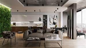 Deco Bois Et Blanc : d co salon gris blanc bois en 30 id es pour revitaliser votre int rieur ~ Melissatoandfro.com Idées de Décoration