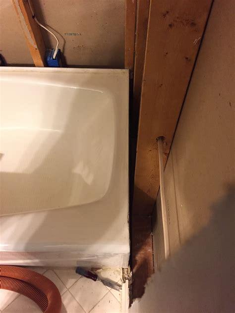 bathroom retiling a tub surround not sure how to shim