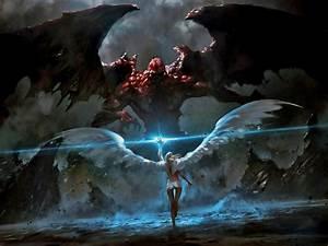 demon and angel battle | Good vs Evil Angel | Tattoo ...