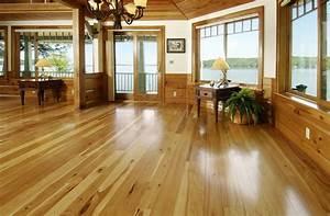 Hickory, Hardwood, Floors, In, Living, Room