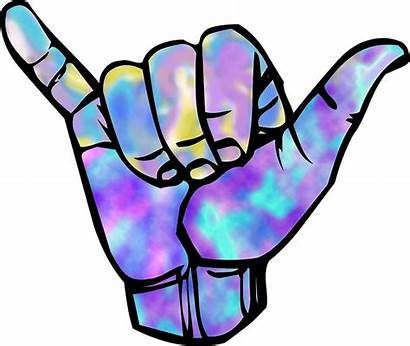 Shaka Sign Sticker Outline Hand Stickers Redbubble