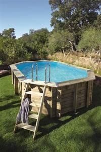 Dimension Piscine Hors Sol : une piscine octogonale int gr e dans une terrasse en bois leroy merlin ~ Melissatoandfro.com Idées de Décoration