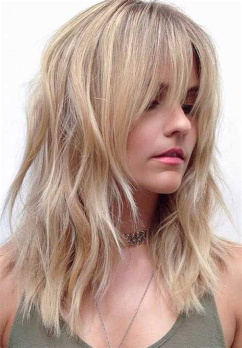 trendy medium hairstyles with bangs for 2019 hairstylesco