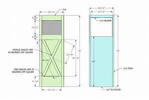 ana white barn door diy projects With barn door blueprints