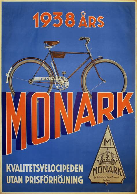 original vintage poster monark bicycle poster  sale