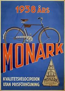 Printed Invoice Original Vintage Poster Monark Bicycle Poster For Sale At