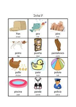 spanish articulation word lists speech therapy