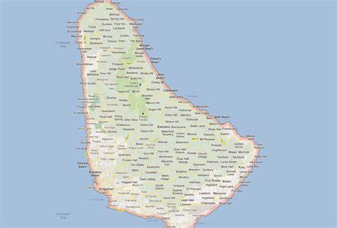 barbados map  barbados satellite image