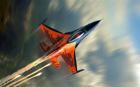 F 16 Fighting Falcon Fighter Aircraft Wallpapers Hd