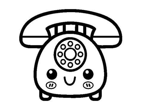 telefono da colorare disegno di telefono retro da colorare acolore