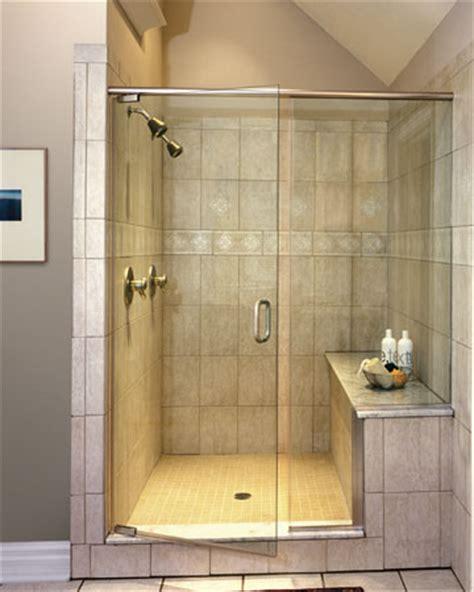 shower door  fixednotched panel