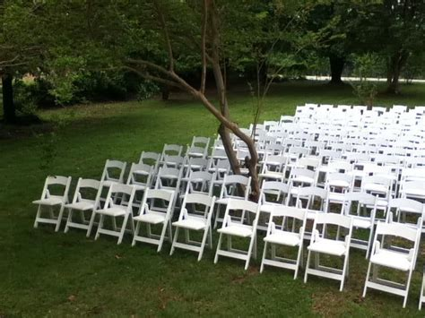 white garden or wedding chair rentals for in arkansas
