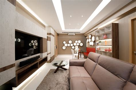 V Hive Home Interior Singapore : Modern Brown Interior With Wall-hive Design (2)