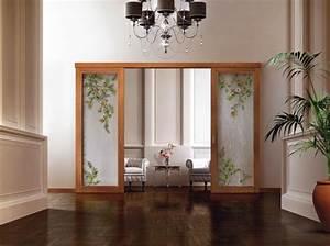cloison coulissante en verre ou bois pour la maison moderne With porte coulissante bois et verre
