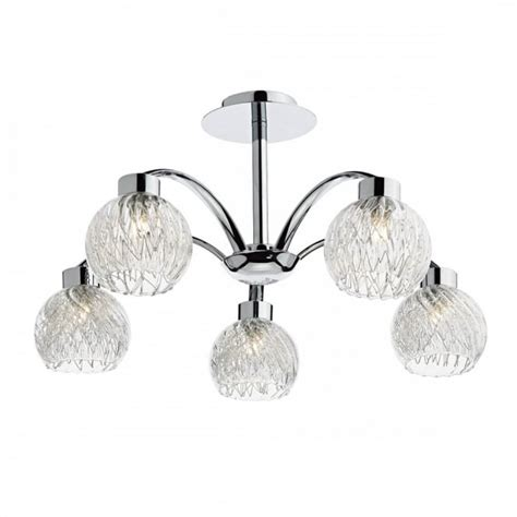 clearly modern semi flush ceiling light contemporary 5 light semi flush ceiling light in chrome w
