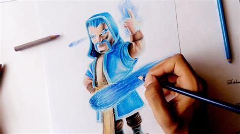 Como Dibujar Al Mago De Hielo De Clash Royale How To Draw