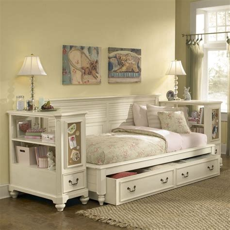 american drew retreat white bookcase nightstand  antique