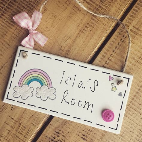 personalised  plaque door nursery bedroom sign gift