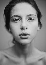 Black and White Face Portraits