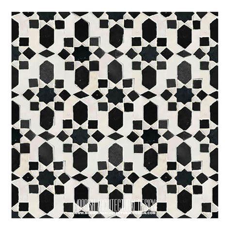 Buy cheap Moroccan tiles   Black & White Moorish Tile